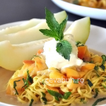 Thumbnail image for Sweet pasta with ice cream and mellon
