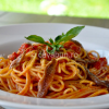 Thumbnail image for Spaghetti with anchovy, tomatoes and basil