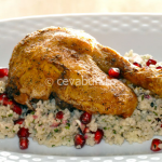 Thumbnail image for Chicken legs with couscous and pomegranates