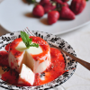 Thumbnail image for Panna cotta with lemon and strawberry purée