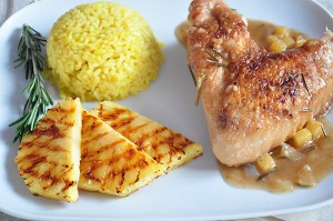 Turkey with pineapple and Madeira sauce