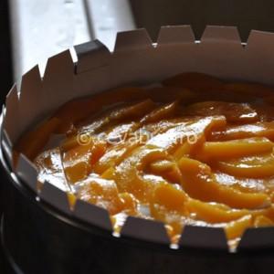 Tort de iaurt cu piersici