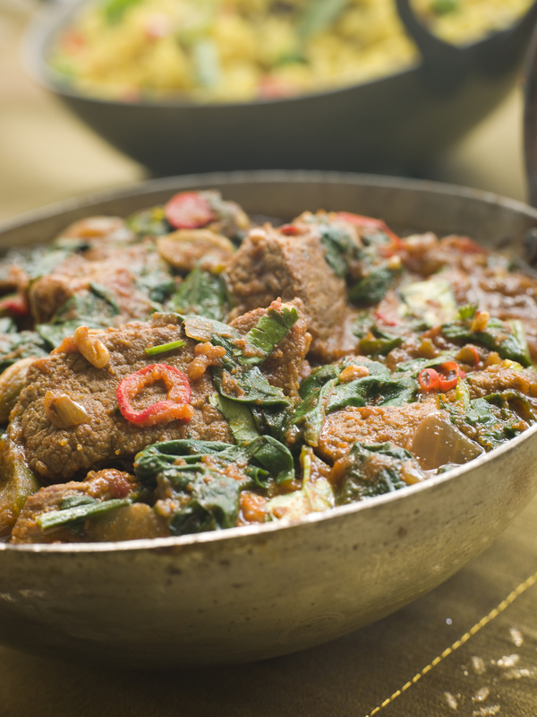 curry de miel cu spanac