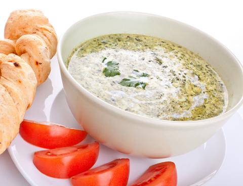 supa crema de spanac cu gorgonzola