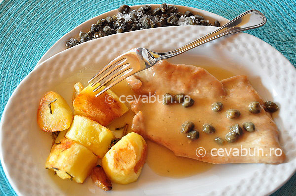 Post image for Turkey scallopine with lemon and capers sauce