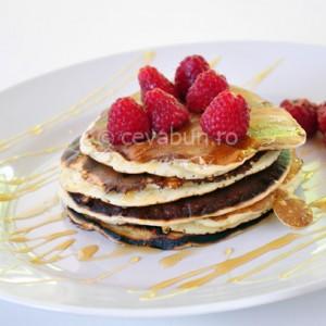 Pancakes cu zmeură