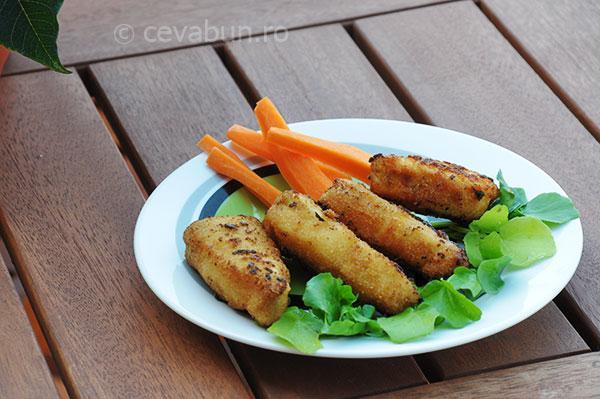 Fish fingers- degeţele de peşte prăjit