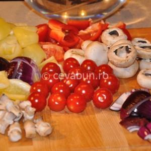 Ingrediente pentru frigărui cu legume
