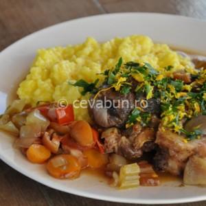 Osso bucco cu risotto milanese