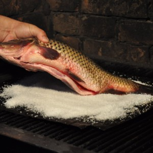 Așezați crapul pe sare