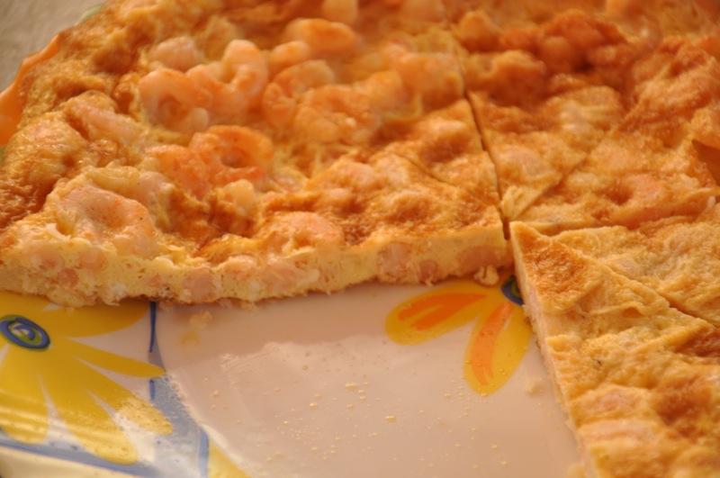 Tortilla cu creveți